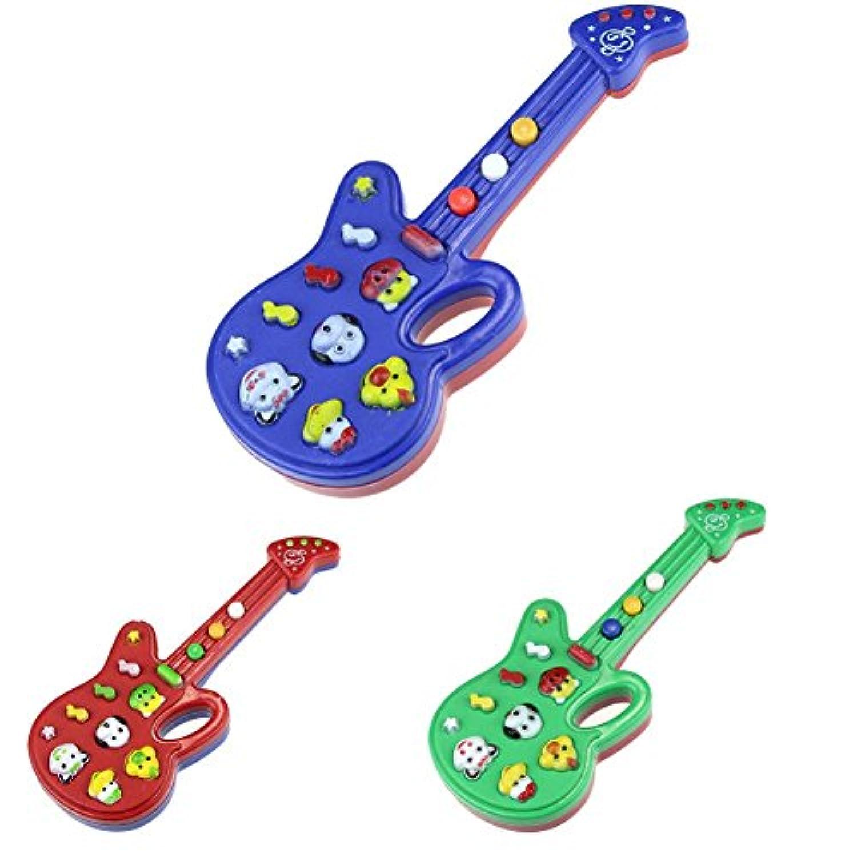 cmrtew 1pc電子ギターおもちゃ – Girls Boys Toddlersと知恵ベビーtoys-、Nursery Rhyme音楽学習教育玩具(ランダムカラー)