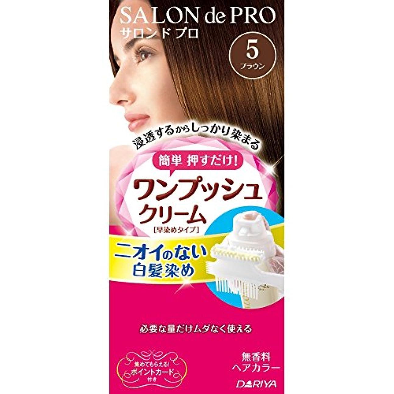 むちゃくちゃ束台風サロンドプロ ワンプッシュクリームヘアカラー 5 40g+40g