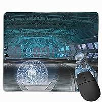 ファンタジー 未来 スペース ロボット 技術 マウスパッド 多用途の 耐久性が良い ゲーム オフィス用滑り止めラバー厚手マット 25X30X0.3Cm