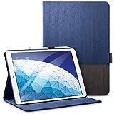 ESR iPad Air 2019 ケース iPad Air3 10.5インチ レザー 合皮 スリムフィット シンプル 手帳型 スエード柔らかな内側 スタンド機能 オートスリープ 傷つけ防止 二つ折 iPad 10.5インチ 2019年版対応(灰紺)
