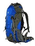 アウトドア 登山 リュック 40L 50L 60L ハイキング バックパック 旅行 キャンプ リュックサック クライミング パック レインカバー付き T30621-Topsky (ブルー, 40L)
