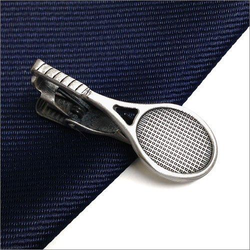 ISHOKUYA(衣飾屋) ユニーク タイピン タイ止め タイバー テニス ラケット