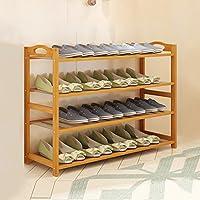 廊下のバスルームのリビングルーム(マルチサイズ)のための4層自然な竹の木製のシンプルな靴の棚棚のホルダーストレージオーガナイザ (サイズ さいず : 90CM)