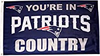 Fremont Die- Inc. 94111B 3 Ft. X 5 Ft. Flag W/Grommetts - New England Patriots