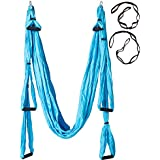 Aerial Yoga Swing Aerial Yoga Silk Aerial Yoga Hammock Ultra Strong Antigravity Decompression Hammock Inversion Trapeze Sling Exercises Equipment - Two Extender Hanging Straps with a Carrying Bag