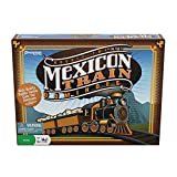 """Mexican Train Dominoes by Pressman - Beautifully Colored High-Quality Dominoes - Set Includes Train Markers and Hub, Generic, 5"""" (3928-06)"""