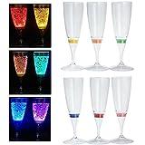 Best シャンパングラス - RioRand LED発光 ワイン/シャンパングラス プラスチック材質 6色 6個セット Review