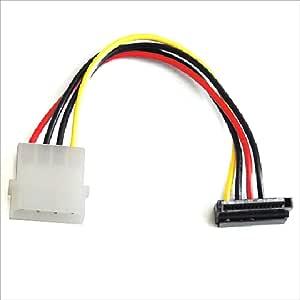 AINEX シリアルATA用電源変換ケーブル 下L型コネクタ [ 12cm ] WA-085LA
