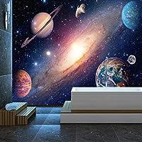 Ansyny 壁紙現代宇宙星空写真壁壁画リビングルーム子供寝室の背景壁家の装飾-260X175CM