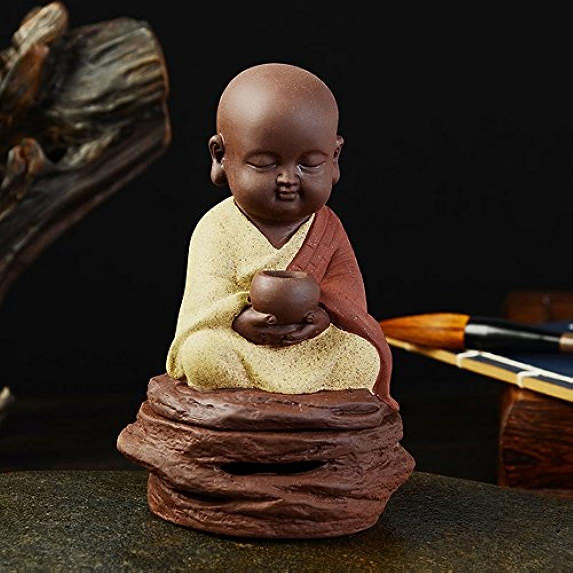 ボス浮く陰気Coil Incense BurnerホルダーAlmsボウルLittle禅Monkセラミック香炉ホーム装飾のTea Ceremony