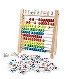 「100玉そろばん+数字カード」セット 百玉そろばん 子供 そろばん 数字 100 算数 おもちゃ 知育・学習玩具 男の子 女の子 3歳 4歳 5歳 6歳 子ども 知育玩具 小学生 足し算 引き算 掛け算 割り算 教材 幼稚園 教具 知育 おもちゃ 画像