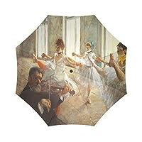 友達誕生日プレゼントPresents Edgar Degas rehearsal-1879100%生地とアルミニウム高品質折りたたみ式傘
