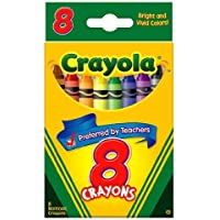 50パックCrayola LLC FORMERLY BINNEY &スミスCrayolaクレヨン8色Peggable