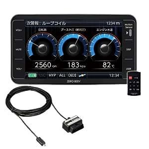 コムテック GPSレーダー探知機 ZERO 800V+OBD2-R2 セット