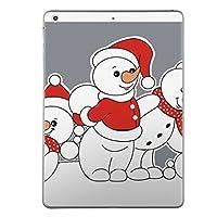 iPad mini4 スキンシール apple アップル アイパッド ミニ A1538 A1550 タブレット tablet シール ステッカー ケース 保護シール 背面 人気 単品 おしゃれ ユニーク 雪だるま キャラクター 006940