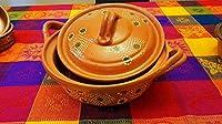 Mexican Cazuela–Large–Lidded–鉛フリー