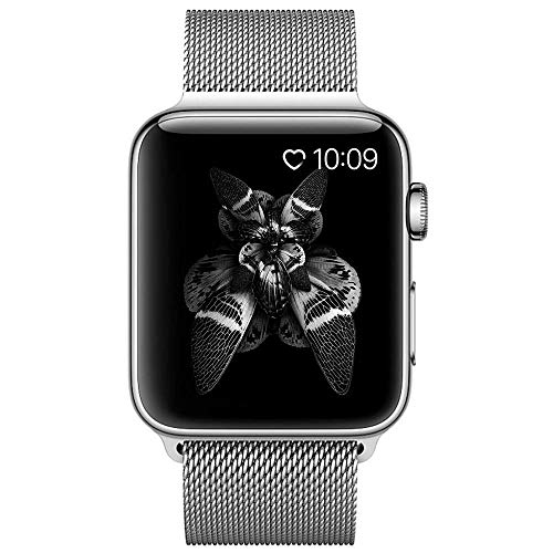 COVERY コンパチブル apple watch バンド,ミラネーゼループ コンパチブル アップルウォッチバンド コンパチブルアップルウォッチ3 ステンレス留め金 コンパチブルapple watch series 4/3/2/1に対応 (38mm,40mm,シルバー)