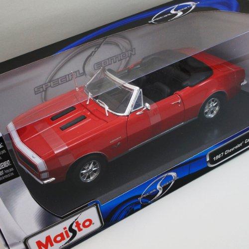 Maisto 1/18 Chevy Camaro SS396 1967 Conv. (Red) ミニカー/シボレー/カマロ/コンバーチブル/1:18/シェビー/赤/レッド/