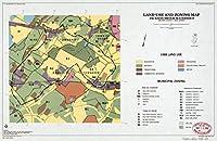 Historic 1988マップ| Land使用とゾーニングマップ、ジャクソンBrook流域、モリス郡、新しいジャージー 68in x 44in 5154988_6844