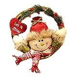 (ノタラス)Notalas クリスマス飾り物 花輪 クリスマスツリー 壁掛け プレゼント ギフト クリスマスイブ 贈り物 サンタクロースソックス 雪だるま かわいい インテリア クリスマス用品 人気  (雪だるま)