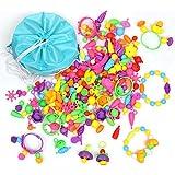 VFX ビーズ おもちゃ 女の子 子供プレゼント 知育玩具 DIY玩具 手作り ブレスレット・ネックレス・指輪 【収納バッグ付き】