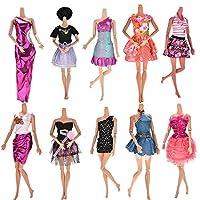 ZWSISU Handmade Dresses for Barbie Doll, Pack of 10