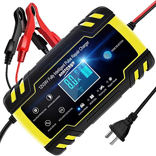 NWOUIIAY バッテリー充電器メンテナンス充電器 バッ...