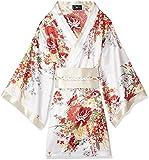 (ジークィーン) G-QUEEN 9295サテン花魁さくらん和柄帯リボンSetぉ着物ミニドレス