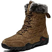 COSIDRAM Mens Snow Boot Fashion Comfortable Casual Winter Warm Cotton Boots for Male Luxury High-top Resist The Cold Waterproof Outdoors Climbing Hiking Sneakers Shoes