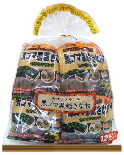 沖縄パイオニアフーズ 黒ゴマ黒糖きな粉セサミクランチ 240g