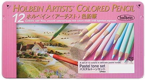 ホルベイン アーチスト色鉛筆 12色セット-パステルトーン