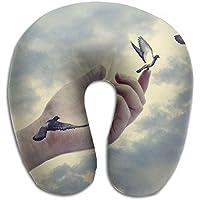 U字型枕 ネックピロー 平和のハト ソフト 首枕 飛行機 オフィス トラベル 旅行用 ビジネス 出張 車内 昼休み 休憩 安眠 携帯枕