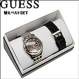 【64】GUESS/ゲス メンズ 時計 【W0508G1】ブラウン×シルバー/レザーベルト1色(ダークブラウン) ASSET アセット 替えベルト付き [並行輸入品]