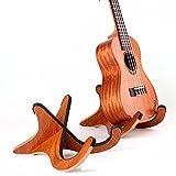 Homefunny X型 木製 折り畳み式 楽器スタンドホルダーサポーター ウクレレ マンドリン ヴァイオリン用