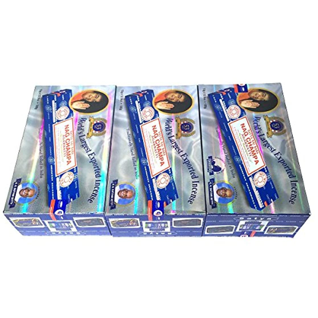 老人維持する信頼サイババ ナグチャンパ香 スティック 3BOX(36箱) 送料無料 /SATYA SAI BABA NAG CHAMPA /インセンス/インド香 お香/アジアン雑貨 [並行輸入品]