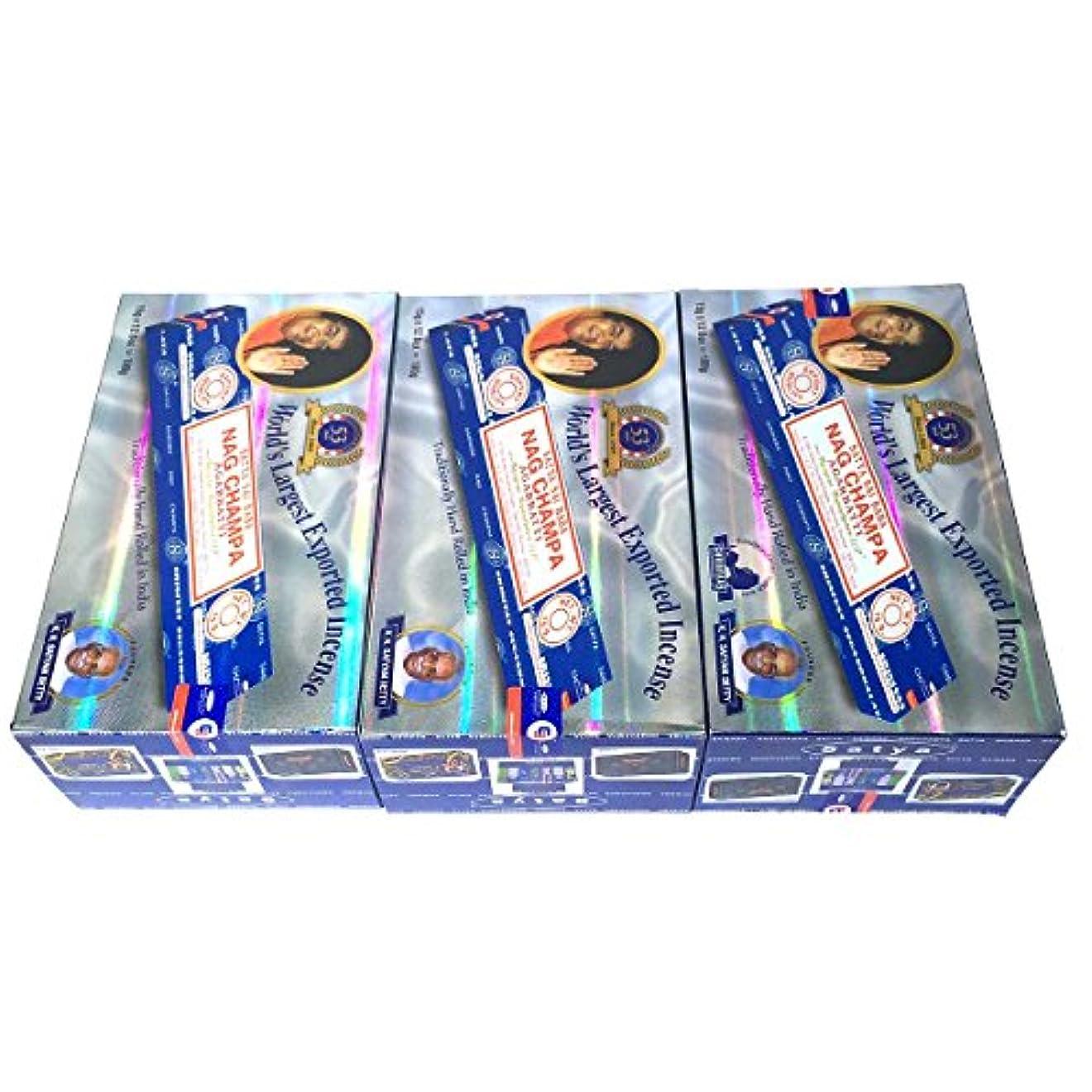 数学者ティームビーズサイババ ナグチャンパ香 スティック 3BOX(36箱) 送料無料 /SATYA SAI BABA NAG CHAMPA /インセンス/インド香 お香/アジアン雑貨 [並行輸入品]
