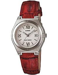 [カシオ]CASIO 腕時計 WAVE CEPTOR ウェーブセプター タフソーラー 電波時計 LWQ-10LJ-4A2JF レッド レディース