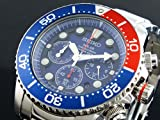 SEIKO セイコ クロノグラフ ソーラー メンズ 腕時計 SSC019P1 海外モデル ブルー×シルバー 逆輸入品