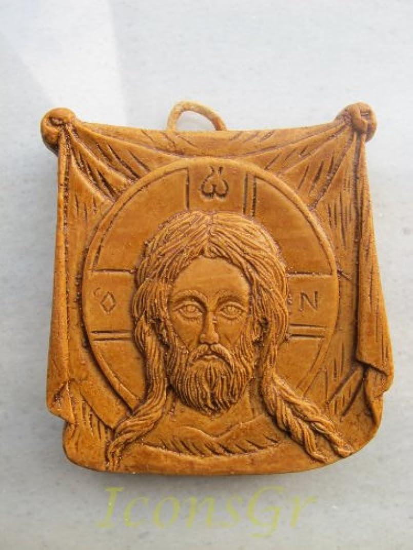 泳ぐ宗教的なトラブルHandmade Carved Aromaticワックスから祝福アイコンアトスのマンディリオン123