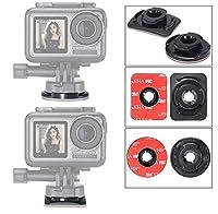 Kiowon DJI OSMO actionカメラ拡張アクセサリー用フラットマウント+ヘルメットマウント (U-20フラットマウント+ヘルメットマウント)