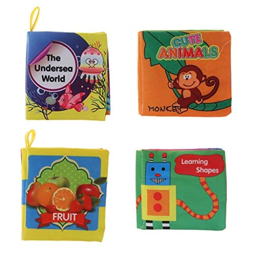 礼拝天国ピルファー4個 赤ちゃん 子供 発達おもちゃ 4ページ 布本 布のおもちゃ 色 形 認知おもちゃ