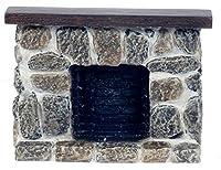 ドールハウスミニチュアFieldstone素朴な暖炉