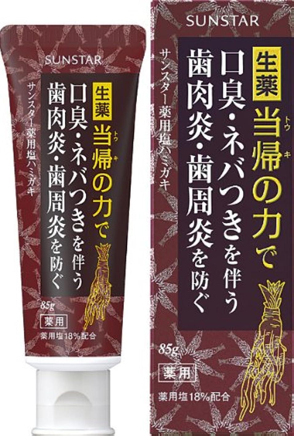 洗練部分的に忘れるサンスター 薬用塩ハミガキ 85g (医薬部外品)