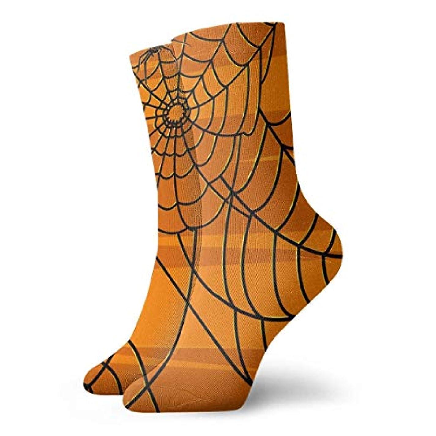 協力するラップブリークストックフォト- Qrriy女性のハロウィンスパイダーウェブパンプキンソフトクリスマス膝のストッキングスリッパソックス、クリスマス楽しいカラフルな靴下