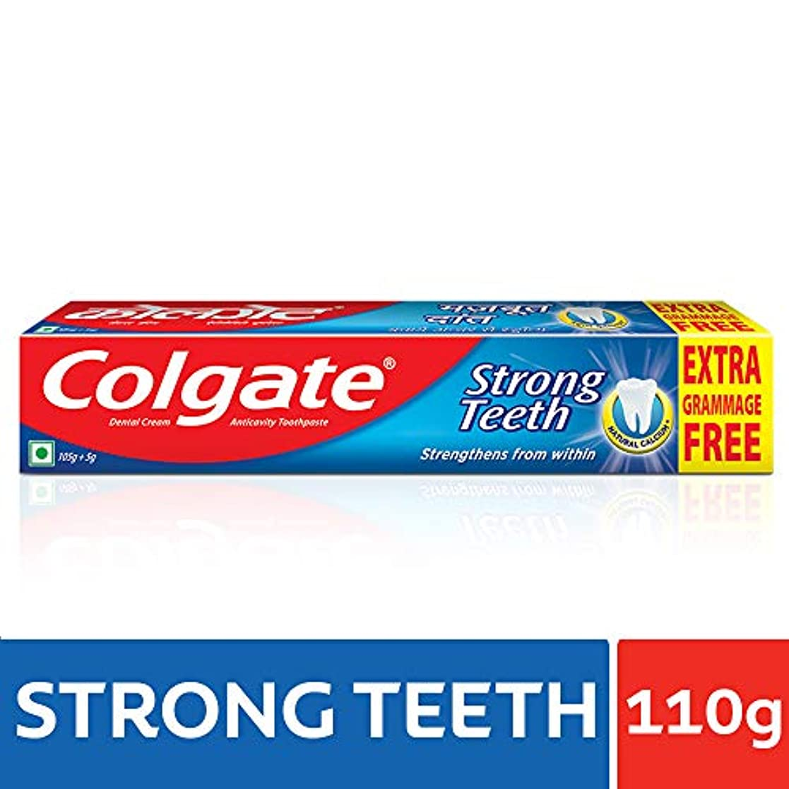 忍耐棚粘液Colgate Toothpaste Strong Teeth Dental Cream -100 Gms (Anti-cavity)