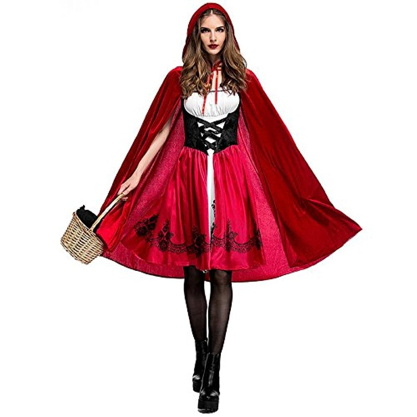 任命はっきりとアウターHalloween 高品質 ハロウィン 大人cosplay 仮装 衣装 コスプレ コスチューム?赤ずきん メイド服 パーティー 舞台 イベント 演出服 (XL)