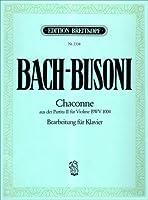 Chaconne BWV 1004 (d'après la Partita No 2 pour Violon) --- Piano
