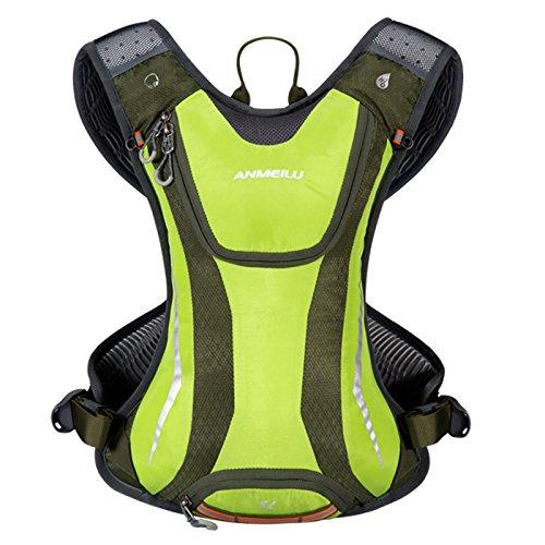 パラディニア(Paladineer)サイクリングバッグ 超軽量 機能性 自転車バッグ ハイドレーションバック クロスカントリー マラソン ジョギング クライミング ハイキング 防撥水 5L グリーン