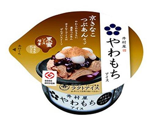 井村屋 やわもちアイス(京きなこつぶあんカップ) 140ml×18箱
