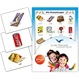 Packaging Flashcards in German Language - Flash Cards with Matching Bingo Game for Toddlers, Kids, Children and Adults - Size 4.13 × 5.83 in - DIN A6